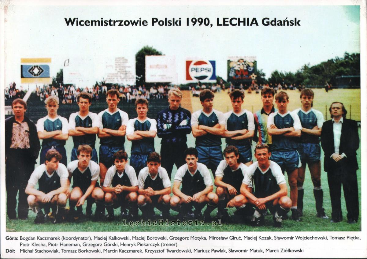 Lechia Gdańsk, wicemistrz Polski juniorów 1990