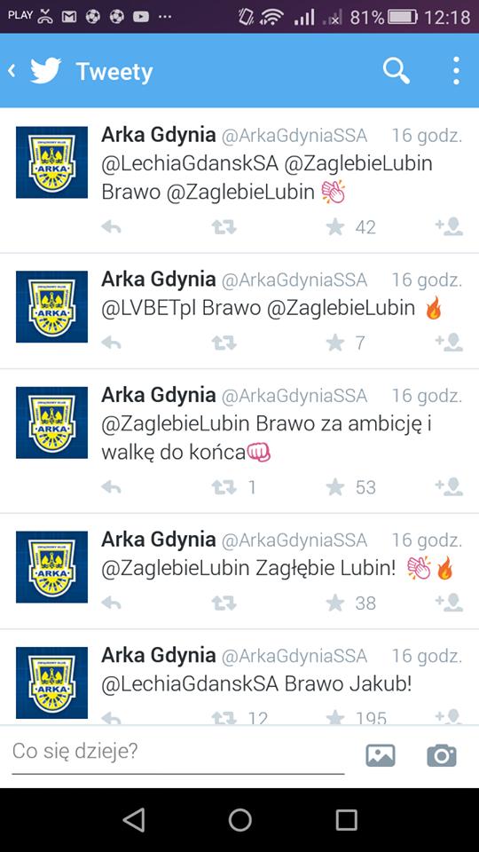 Twitter Arka Gdynia